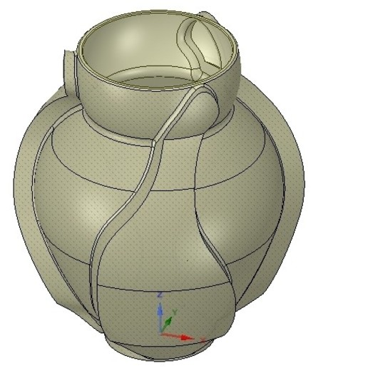 Download STL vase cup vessel v05 for 3d-print or cnc, Dzusto