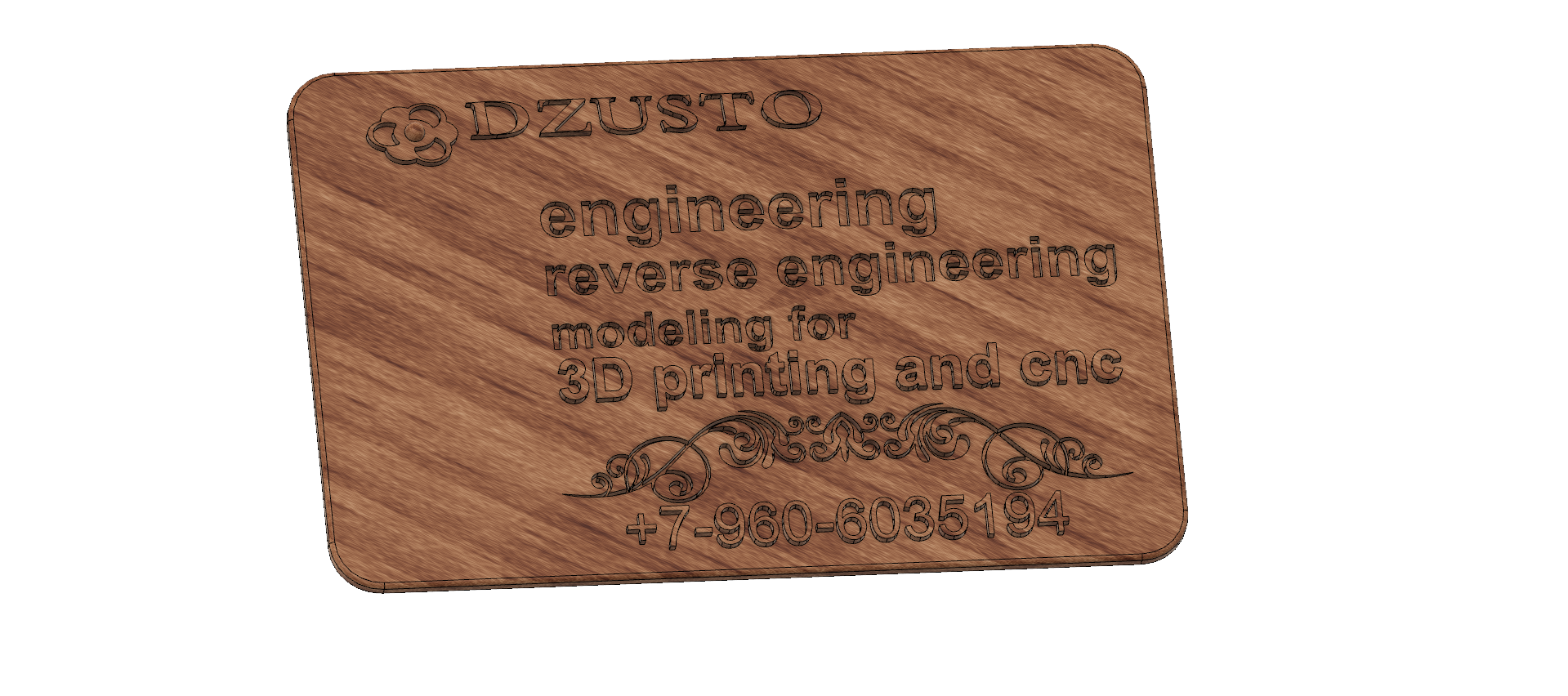 business card 01 v4.png Download free STL file Modeling product engineering reverse-engineering 3d print cnc • 3D printing design, Dzusto