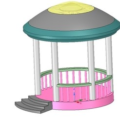 Download 3D printer designs Rotunda arbor terrace for 3D printing and assembly, Dzusto