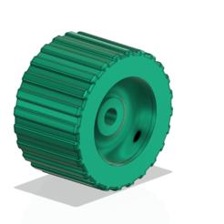 """Télécharger fichier 3D Wobble Roller à larges nervures 5"""" X 3"""" 0.62""""'' Shaft Boat Trailer 3d cnc, Dzusto"""