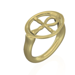 "ring-05 v10-01.png Download STL file ring Egypt ""key of the Nile"" ""key of life"" r05 for 3d-print and cnc • Template to 3D print, Dzusto"