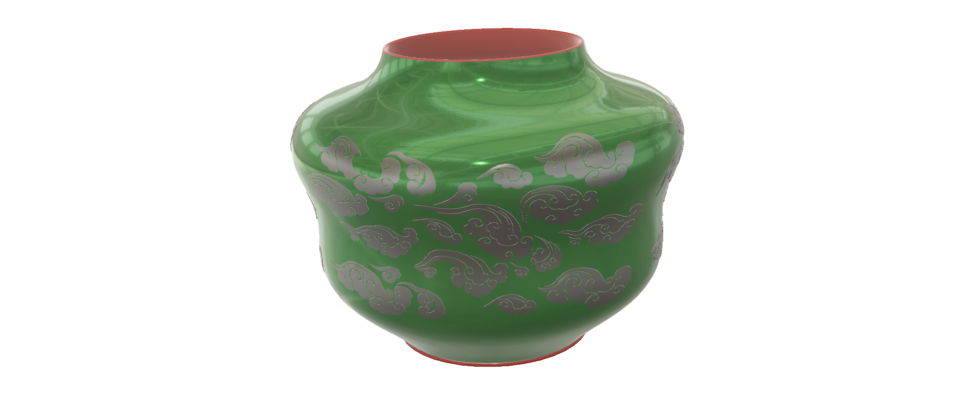 "pot-vase-1001 v2-05.png Download STL file vase cup pot jug vessel ""spring chinese clouds"" v1001 for 3d-print or cnc • 3D printable model, Dzusto"