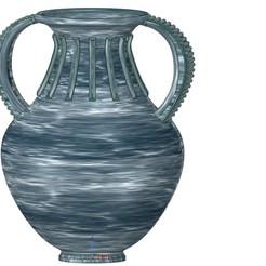 Télécharger fichier 3D vase vase amphore vase v37 à coupe grecque pour l'impression 3d et cnc, Dzusto