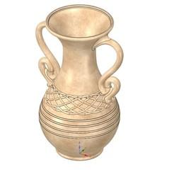 Descargar archivos 3D jarrón de maceta vaso vp401 para 3d-print o cnc, Dzusto