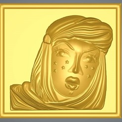 "woman-03-001.jpg Download STL file real 3D Relief For CNC building decor wall-mount for decoration ""woman-03"" 3d print • 3D printing object, Dzusto"