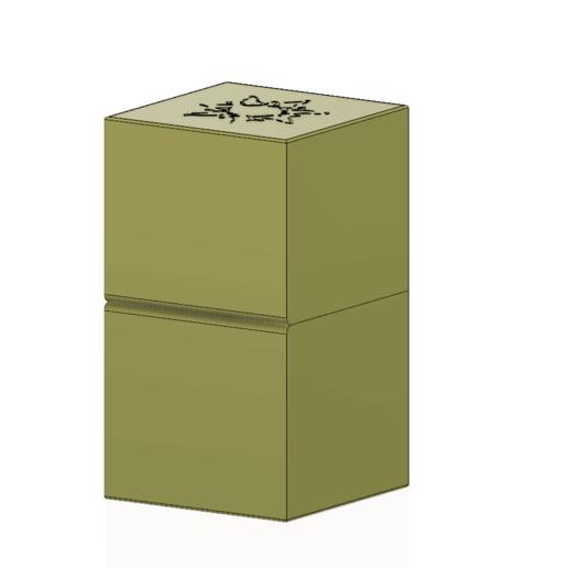 cube-02-a1 v1-04.png Descargar archivo OBJ Caja de regalo Caja secreta pequeña caja secreta Modelo de impresión en 3D • Modelo para imprimir en 3D, Dzusto