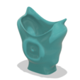 Download 3D printing models King coat vase cup vessel holder v307 for 3d-print or cnc, Dzusto