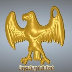 keychain-04art-000.jpg Download STL file keychain eagle  keyring trinket neck pendant key-keeper keychain-04art 3d-print and cnc • 3D printable template, Dzusto