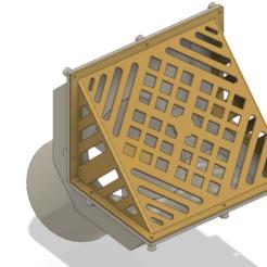 Descargar archivos 3D Techo de aguas pluviales Parapetos Drenaje w Grado L Rejilla 100 mm sifón 3d-print, Dzusto