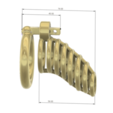 Download 3D model Male Chastity Device Cock Cage Penis Ring  Virginity Lock Chastity Belt Adult Game Sex Toy locker v53 3d print and cnc, Dzusto