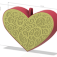 Descargar STL Corazón de juguete navideño para regalo de boda Jewelry Box 3D print, Dzusto