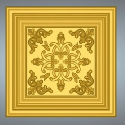 Decor-ceiling-23-00.jpg Download STL file Bas-relief original real 3D Relief Round Rope Rosette For CNC building decor ceiling or wall mounting for decoration cd-23 3d print  • 3D printer object, Dzusto
