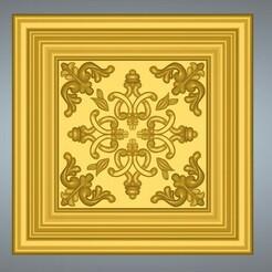 Decor-ceiling-23-00.jpg Télécharger fichier STL Bas-relief original réel 3D Relief Round Rope Rosette Pour la décoration des bâtiments CNC montage au plafond ou au mur pour la décoration cd-23 3d print • Objet à imprimer en 3D, Dzusto