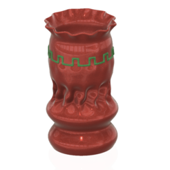 Download 3D printing designs vase cup pot jug vessel spring forest for 3d-print or cnc, Dzusto