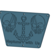 Descargar modelos 3D embellecedor fueraborda para espejo de popa de barco para cnc de impresión 3d, Dzusto