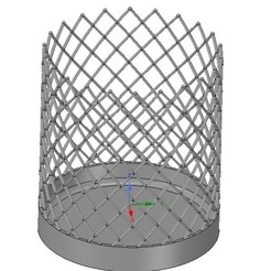 Télécharger objet 3D vase porte stylo pinceau porte stylo brosse à dents brosse à dents v31 modèle d'impression 3D, Dzusto