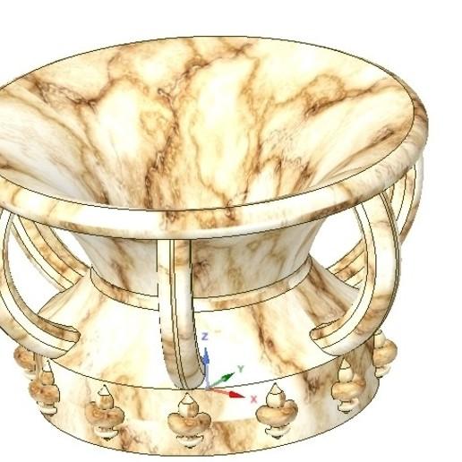 Download STL file vase amphora cup vessel v03 for 3d-print or cnc, Dzusto