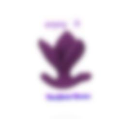 anal_plug_Anus_tulip_08 v10-00.png Download STL file female male anal drop plug Folding Tulip Anus Expander butt silicone drop-down plug v08 3d print cnc • 3D printable object, Dzusto