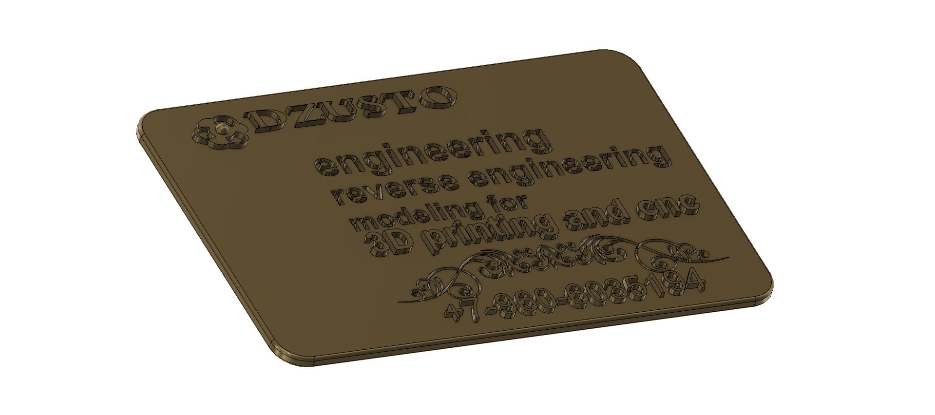business card 01 v5-07.png Download free STL file Modeling product engineering reverse-engineering 3d print cnc • 3D printing design, Dzusto