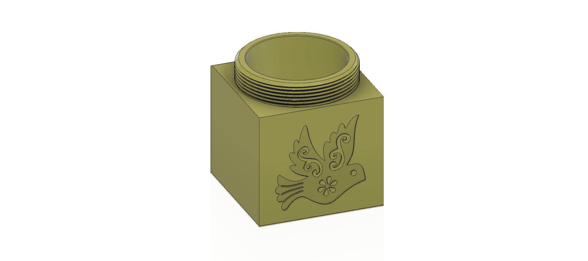 cube-02-a1 v1-07.png Descargar archivo OBJ Caja de regalo Caja secreta pequeña caja secreta Modelo de impresión en 3D • Modelo para imprimir en 3D, Dzusto