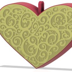 Télécharger fichier STL Jouet de Noël Coeur pour cadeau de mariage Jewelry Box Impression 3D, Dzusto