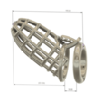 Download 3D printer files Male Chastity Device Cock Cage Penis Ring  Virginity Lock Chastity Belt Adult Game Sex Toy locker v48-2 folding ring 3d print and cnc, Dzusto