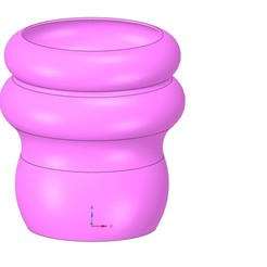 Télécharger objet 3D vase vase vase vase v49 pour impression 3d ou cnc, Dzusto