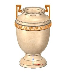 Download 3D printer designs amphora greek cup vessel vase v08 for 3d print and cnc, Dzusto