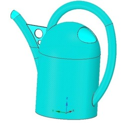 Download 3D printer designs handle watering can for flowers v01 3d-print and cnc, Dzusto