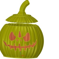 Download STL file halloween pumpkin candlestick magic ritual for 3d-print or cnc, Dzusto