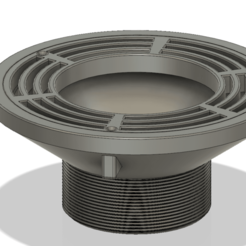 floor_drain_grate_200x100 v13-00.png Download OBJ file Floor Drain Grate Round 200x100 with 110 hole for balcony • 3D printer template, Dzusto