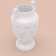 Download STL file amphora greek cup vessel vase v51 for 3d print and cnc, Dzusto
