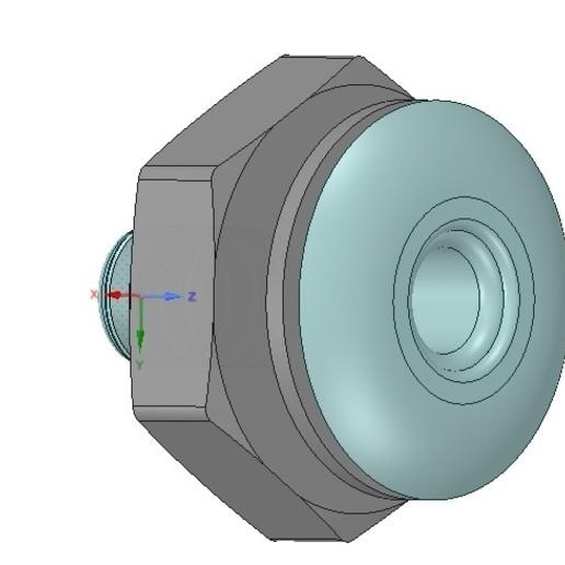 "Descargar diseños 3D Marine Boat Thru Hull Fitting Connector 1"" Hose neck12 3d-print, Dzusto"