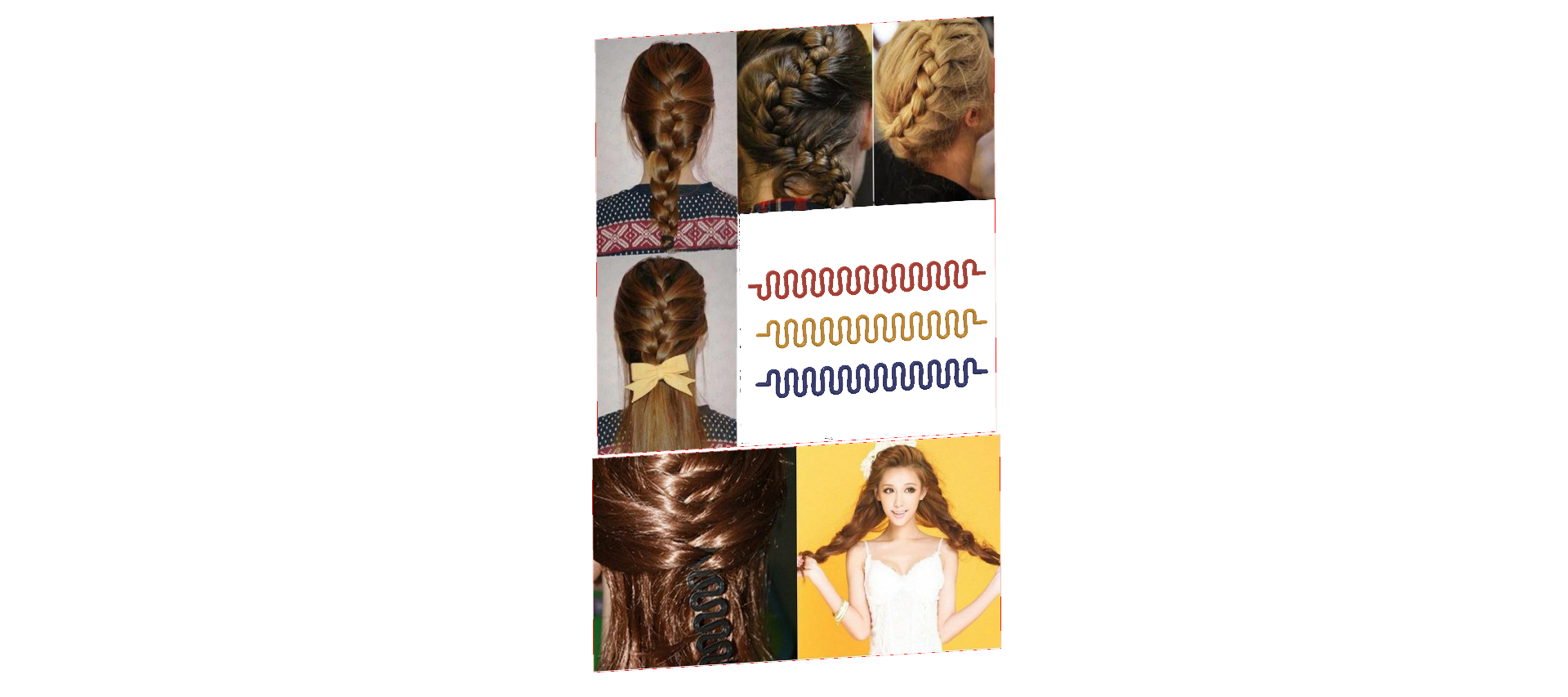 Female braid hair 04 v5-00.png Download STL file female hair braid hair styling roller hair accessories for girl headdress weaving tool 3d print cnc • 3D printing object, Dzusto