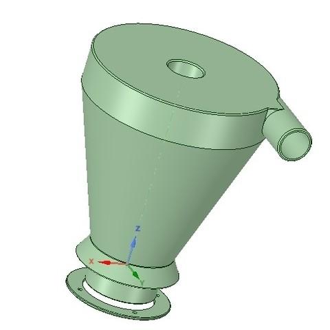 Descargar archivos STL filtro ciclón para aspirador de uso doméstico v01 3d-print, Dzusto
