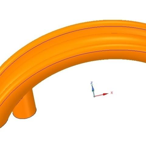 Télécharger objet 3D poignée de support de meuble de fabrication simple vs02 3d-print et cnc, Dzusto