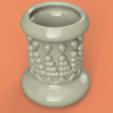 Descargar modelo 3D Recipiente de vasos estilo jarrón v305 para impresión en 3d o cnc, Dzusto