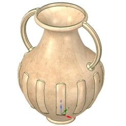 Download 3D printing templates amphora greek cup vessel vase kv11 for 3d print and cnc, Dzusto