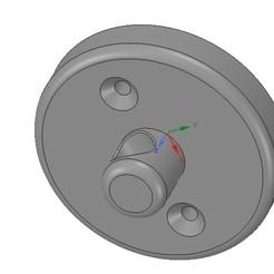 Télécharger fichier STL simple support mural ou plafonnier pour l'impression 3D et cnc, Dzusto
