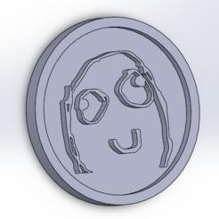 Télécharger fichier 3D Sous-verres Derp meme (coasters), todo3d