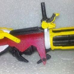 Descargar archivo 3D Transformers Prime Beast Hunters Optimus Prime Gatling Gun, Sieg_kai