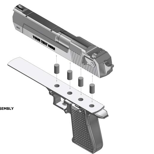 Download 3D print files PERSONALIZED TOY GUN, DenOobator