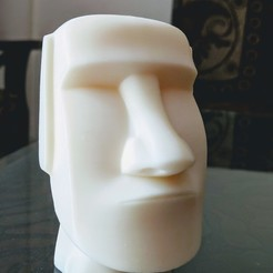 Download free STL files Easter Island Head moai, mech22ayush