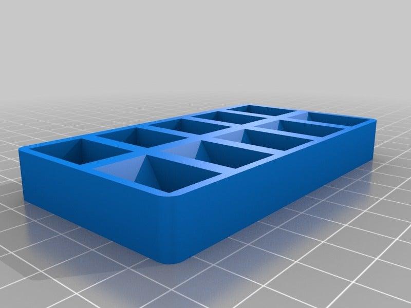 b0b0de907f8444d7fcc032acd4029e6a.png Télécharger fichier SCAD gratuit Plateau de palettes de peinture personnalisable v2 • Design imprimable en 3D, Andrux51