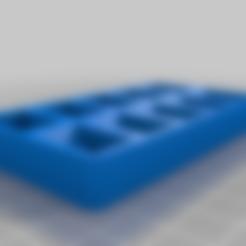 painttray-v2.stl Télécharger fichier SCAD gratuit Plateau de palettes de peinture personnalisable v2 • Design imprimable en 3D, Andrux51