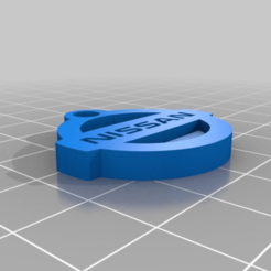 Download free STL file Nissan Logo Keychain • 3D printing object, Andrux51