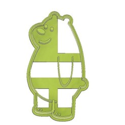 Grizzly Bear 2 Cookie Cutter.jpg Download STL file COOKIE CUTTER, FONDANT GRIZZLY WE BARE BEARS • 3D print design, mipm