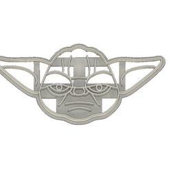 Descargar modelo 3D CORTADOR DE GALLETAS FONDANT YODA STAR WARS, mipm