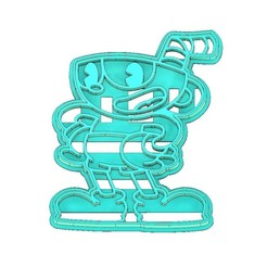Download 3D printer designs CUPHEAD COOKIE CUTTER, COOKIE CUTTER, FONDANT CUTTER, mipm