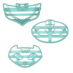 Download 3D print files PJ MASKS COOKIE CUTTER, OWLETTE COOKIE CUTTER, CATBOY COOKIE CUTTER, GEKKO COOKIE CUTTER, OWLETTE,GEKKO, CATBOY, PJ MASKS, mipm